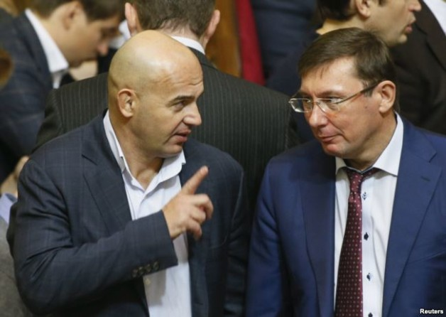 MP Ihor Kononenko and Prosecutor General Yuriy Lutsenko