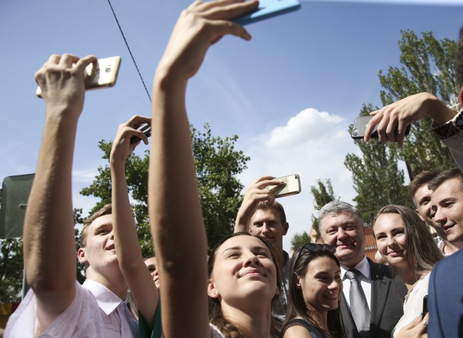 Selfie-session with Poroshenko, 21 August, Kropivnitskiy, PRESIDENTIAL ADMINISTRATION OF UKRAINE