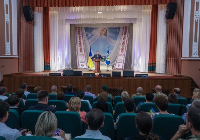 Theatrical performance of Poroshenko. 22 August, Severodonetsk of Luhansk region, Presidential Administration of Ukraine